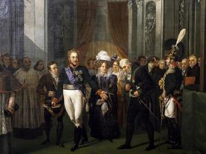 Visit of Prince of Salerno, Leopold of Bourbon to French Institute by Louis Nicolas Lemasle