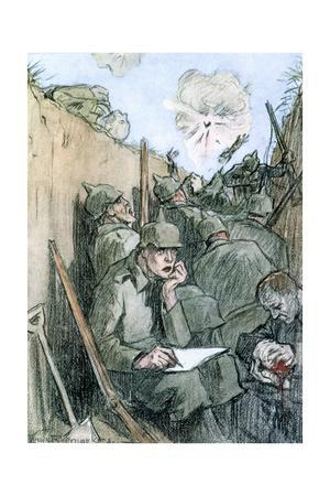 'A Letter from the German Trenches', 1916