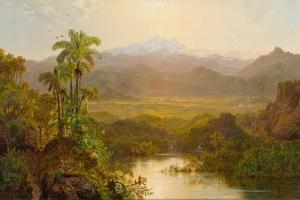 Landscape in Ecuador, 1859 by Louis Remy Mignot