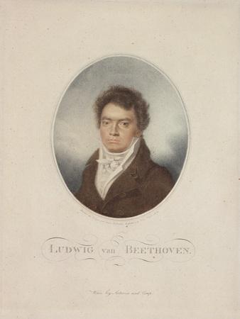 Lugwig Van Beethoven (1770-1827) Engraved by Blasius Hofel (1792-1863) 1814
