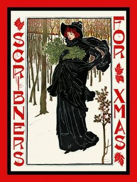Scribners for Xmas by Louis Rhead