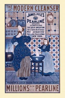 The Modern Cleanser, Millions Now Use Pearline by Louis Rhead
