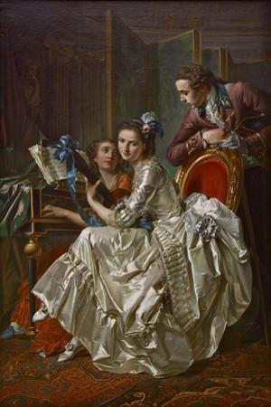 The Music Party, 1774 by Louis Rolland Trinquesse