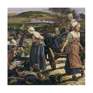 An Artistic Portrait of Women on the Battlefield by Louis S. Glanzman