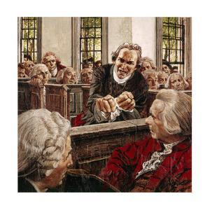 Painting of Patrick Henry Speaking to Virginia Delegates in 1775 by Louis S. Glanzman