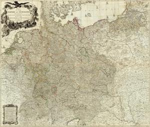 Map of the Empire of Germany, c.1790 by Louis Stanislas D'arcy De La Rochette