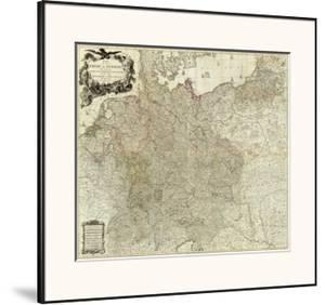Map of the Empire of Germany, c.1790 by Louis Stanislas D'arcy De La Rochette