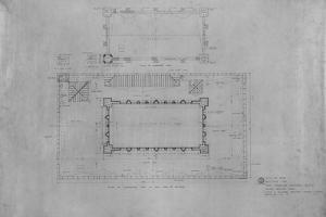 Peoples Savings Bank, Cedar Rapids, Iowa: Roof Plan, 1909-11 by Louis Sullivan