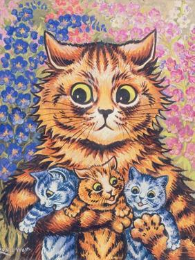 A Cat with her Kittens by Louis Wain