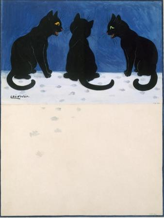 Black Cats in the Snow by Louis Wain
