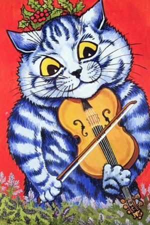 Cat on the Fiddle by Louis Wain