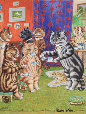 Cat's Tea Party by Louis Wain