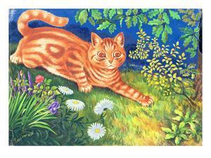 Cat Stalking by Louis Wain