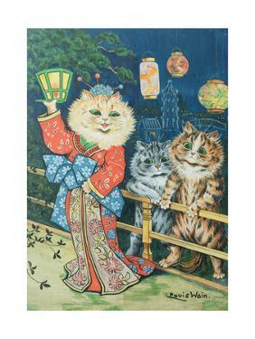 Cats in Japan by Louis Wain