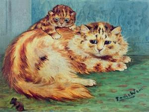 Cheeky Mouse! by Louis Wain