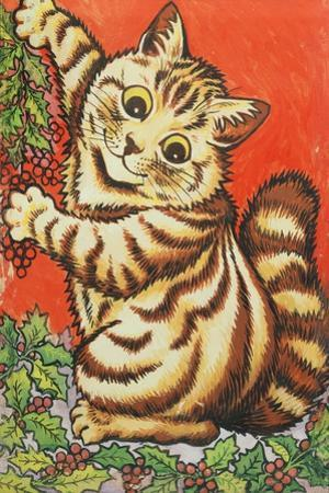 Christmas Cat by Louis Wain