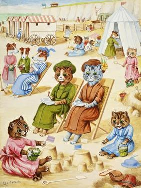Holiday Time by Louis Wain