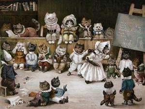 Mrs Tabitha's Cats' Academy, 1895 by Louis Wain