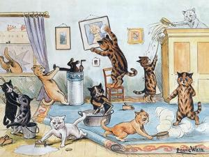 Spring Cleaning by Louis Wain