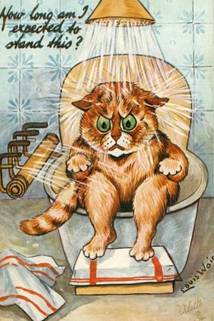 Taking the Waters as Seen by Louis Wain, C.1930 by Louis Wain