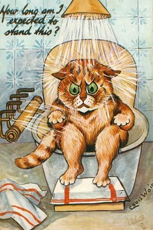 Taking the Waters as Seen by Louis Wain, C.1930