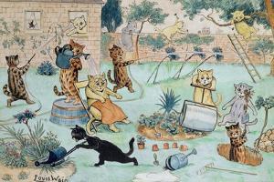 The Gardeners by Louis Wain