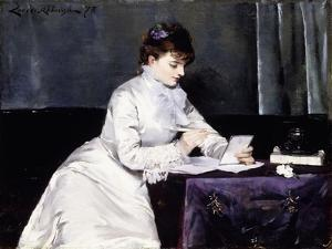 Portrait of Madame Lucien Guitry, 1876 by Louise Abbema