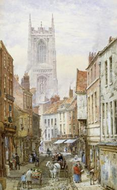 A View of Irongate, Derby by Louise J. Rayner