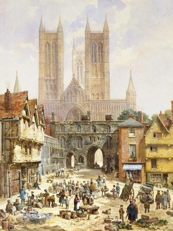 A View of Lincoln Cathedral, England