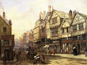 Bridge Street, Chester, England by Louise J. Rayner
