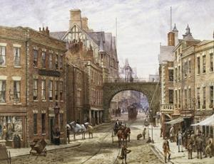 Forgate Street, Chester by Louise J. Rayner