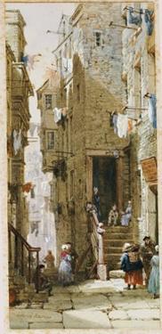 Street Scene in Edinburgh by Louise J. Rayner