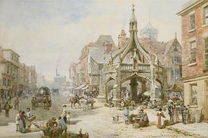 The Poultry Cross at Salisbury by Louise J. Rayner