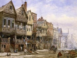 Watergate Street, Chester, Looking West by Louise J. Rayner