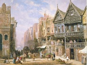 Watergate Street, Looking Towards Eastgate, Chester, c.1870 by Louise J. Rayner