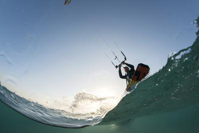 Kite Surfing on Red Sea Coast of Egypt, North Africa, Africa