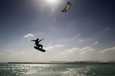 Kite Surfing on Red Sea Coast of Egypt, North Africa, Africa by Louise