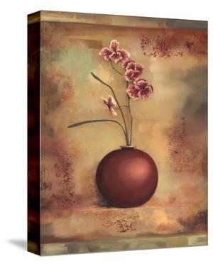 Pink Orchid in Vase I by Louise Montillio