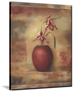 Pink Orchid in Vase II by Louise Montillio