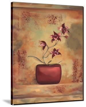 Red Orchid in Vase by Louise Montillio