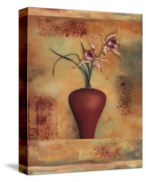 Spotted Orchid in Vase by Louise Montillio
