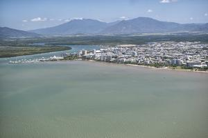 Aerial Photograph of the City and the Mouth of Trinity Inlet by Louise Murray