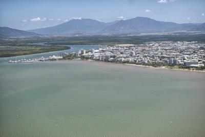 Aerial Photograph of the City and the Mouth of Trinity Inlet