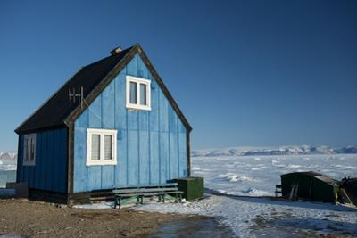 Colourful Wooden House in the Village of Qaanaaq