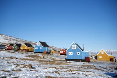Colourful Wooden Houses in the Village of Qaanaaq