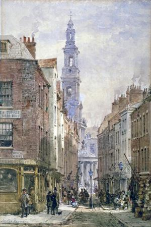View of Drury Court from Wych Street, Westminster, London, C1875