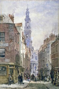 View of Drury Court from Wych Street, Westminster, London, C1875 by Louise Rayner