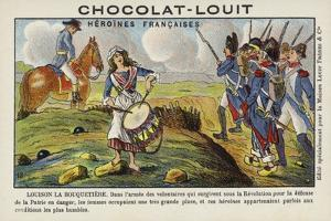 Louison La Bouquetiere, French Woman Volunteer in the Revoluntionary Army