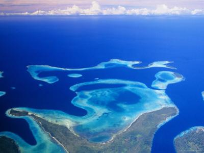 Aerial View of the Solomon Islands, Melanesia, South Pacific by Lousie Murray