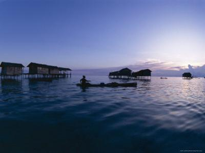 Stilt House Villages Over the Sea, Lived in by Bajau Families, Sabah, Island of Borneo, Malaysia by Lousie Murray